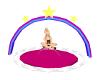 100%siz Rainbow Rug Seat