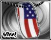 American Flag DogTag
