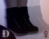 "Ð"" Blk Leather Boots"