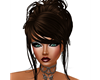 Romantic brown updo hair