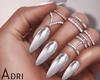 ~A: Silver Mirror Nails