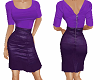 TF* Purple Top & Skirt
