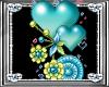 *D*Blue Dangling Hearts