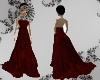 Red evening ladydress