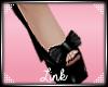 [L] Black Bow Heels