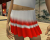 Pleated skirt red/white