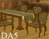 (A) Wood Tudor Table