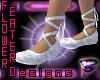 Ballet Slippers- Wht/Slv