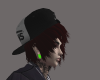 Emo Hat With Red Hair