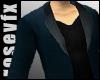 Blue Dress Coat blkshirt