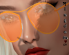 Orange, glasses