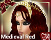 Red hair gold headdress