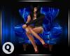 ♛ Blue Lightning Chair