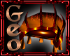 Geo Flame claw chair