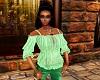 pastel green poet shirt