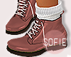 ❀ kids combat boots