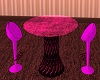 Pink Neon Bar Table