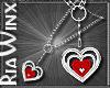 Garnet Heart Nklace