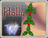 *W* Christmas Earrings