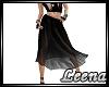 L* Black Flowy Skirt