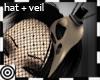*m Bird Skull Hat+ Veil
