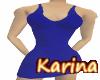 -K- Blue Mini Dress