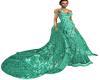 Aqua Formal Gown