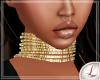 [L] lindsay Choker gold