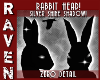SILVER SHINE RABBIT HEAD