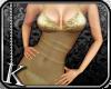 [K] Gold Sheer Dress
