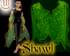 Shawl - Green and Gold