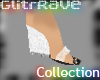 GlitrRAVE Clear heel
