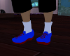 (chad)bluenred sneakers