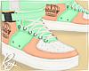 Orange/Mint Pastel Shoes