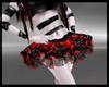 B red cyb' skirt