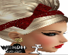 Blon hair tiara red la