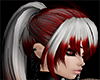 White & Red Ponytail