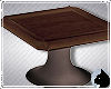!End table wood sq