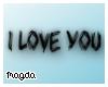 ! I Love You Headsign