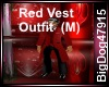 [BD]Red Vest Outfit(M)