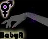 BA Purple Glitter Cuffs