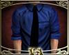 VA~ Blue Shirt Black Tie