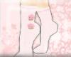 Cupcake Heel Socks~Pink