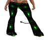 GREEEN LACE PVC FLARES