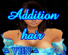 Addition hair brown dark