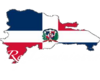 dominican map flag