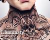 ▲ Evil Neck Tattoo