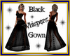 Black Whispers Gown