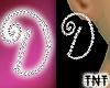 Diamond D Earrings