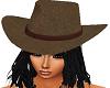 brow hat black hair